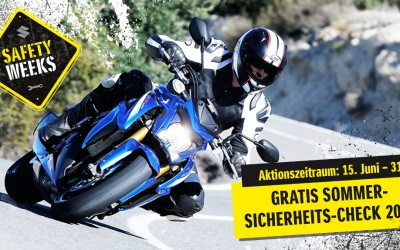 Suzuki Safety Weeks 2015: Kostenloser Sommer-Sicherheits-Check