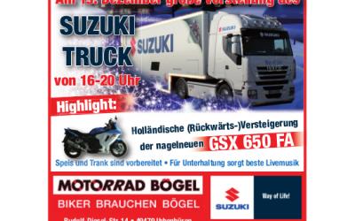 Der Suzuki Weihnachtstruck kommt nach Ibbenbüren