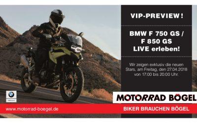 VIP-PREVIEW: Vorstellung der neuen BMW F750GS / F850GS