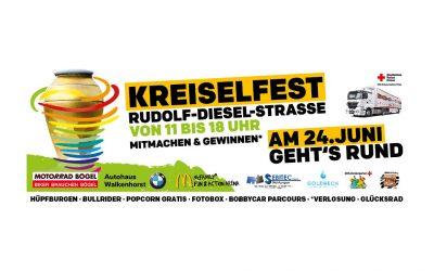 Kreiselfest an der Rudolf-Diesel-Straße
