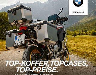 Motorrad-Koffer & Topcases von BMW bis zu 15% reduziert