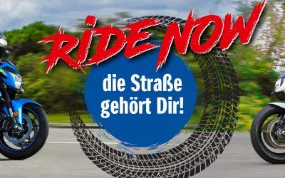 """Suzuki """"Ride NOW"""" – Top Bikes zum Top Preis"""